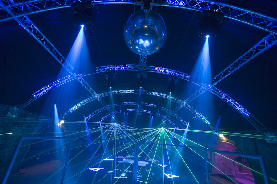 nightclub laser installation