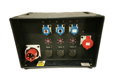 18 Way Hot Power rack 63A 3phase Distro