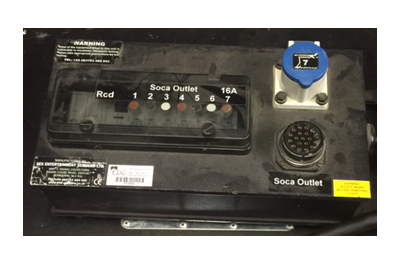 32A 3Phase to Socapex Power Distro